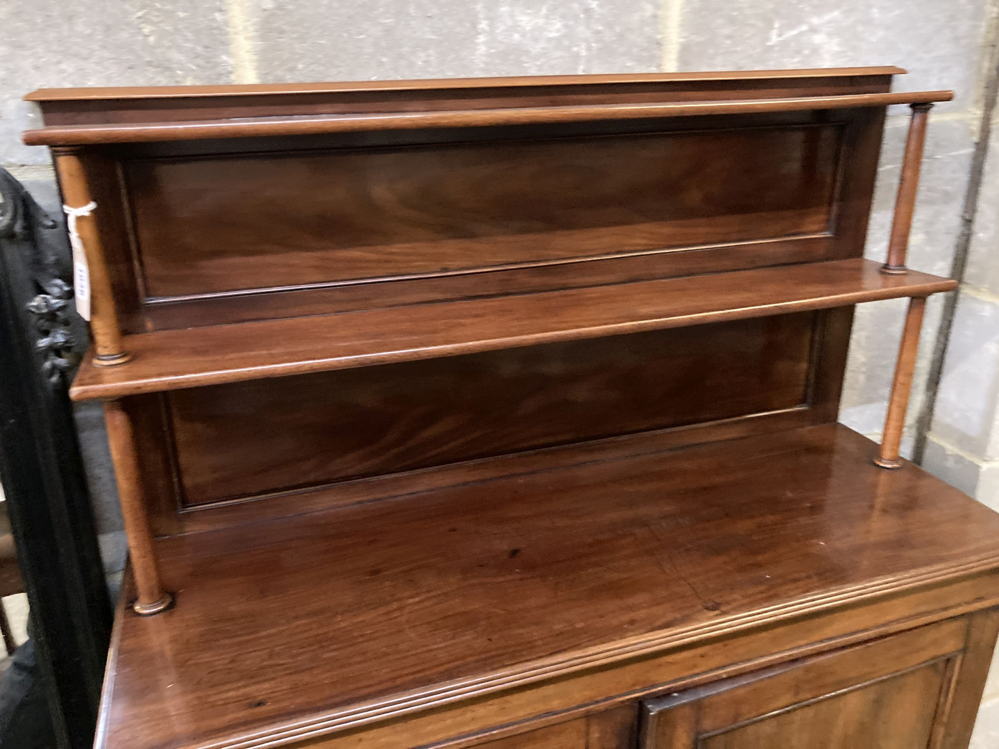 An early Victorian mahogany chiffonier, width 96cm, depth 32cm, height 146cm - Image 2 of 3