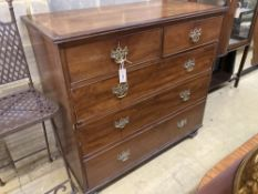 A George III mahogany chest, width 110cm, depth 54cm, height 107cm