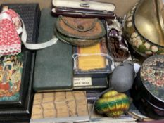 Five penknives, various and a collection of miscellaneous items, including a cased Rexala