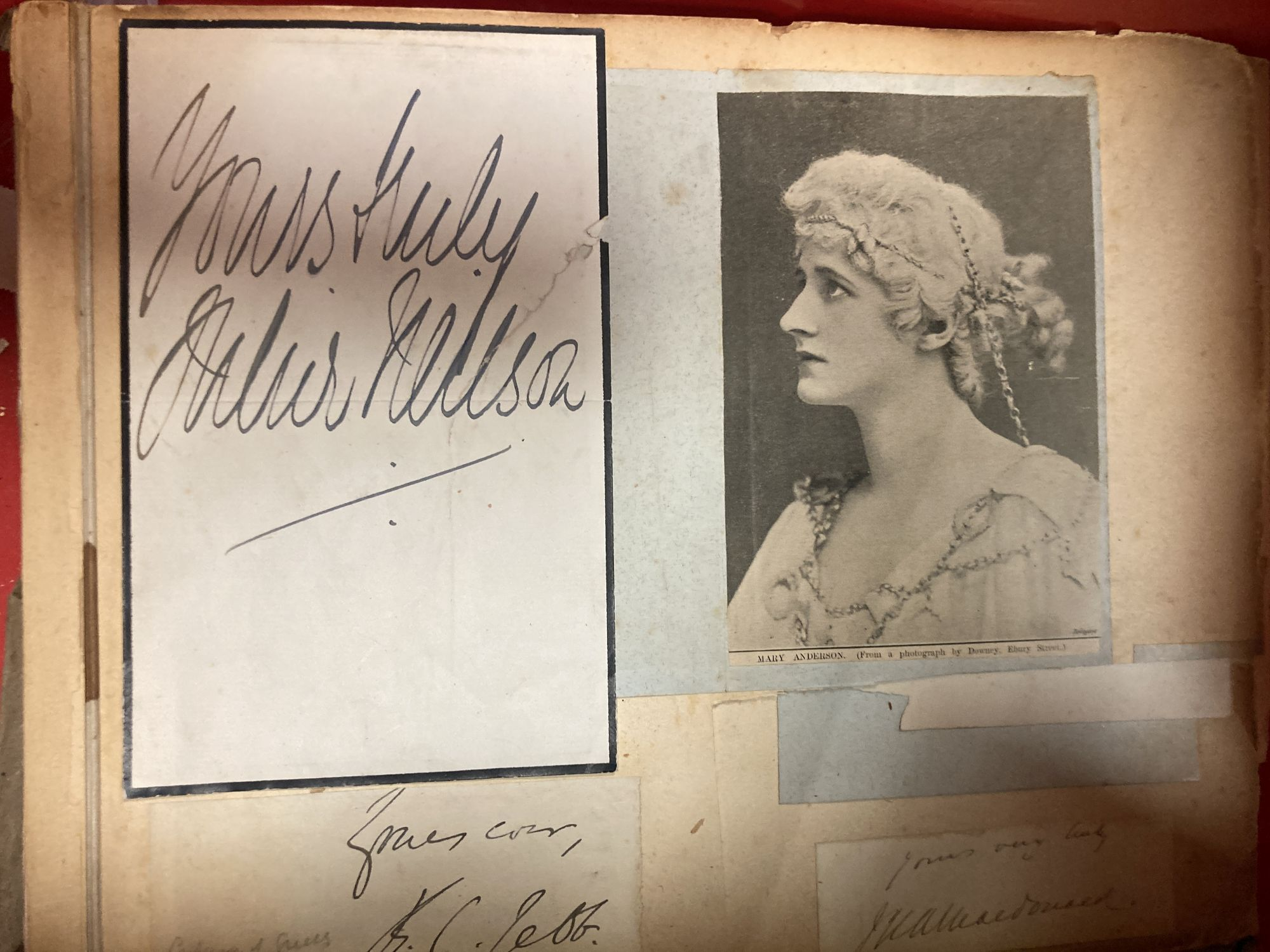 Various autograph albums, famous people of the day, Victorian and later - Image 5 of 5