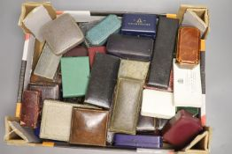 Fifty two assorted mainly jewellery boxes, including Shapland and Fattorini & Sons.