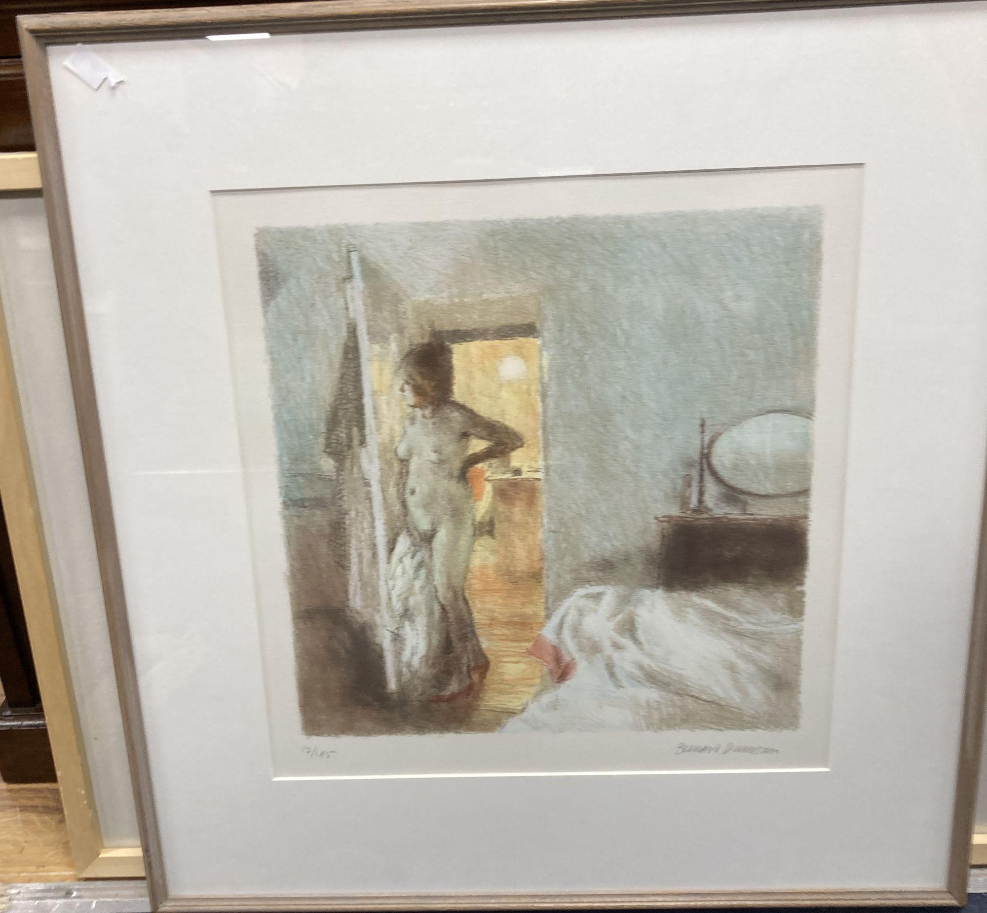 Bernard Dunstan (1920-2017), lithograph, 'Nude I', signed in pencil, 12/95, 40 x 39cm. - Image 2 of 4