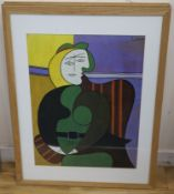 Four modern colour prints, After Picasso and others, 63 x 47cm