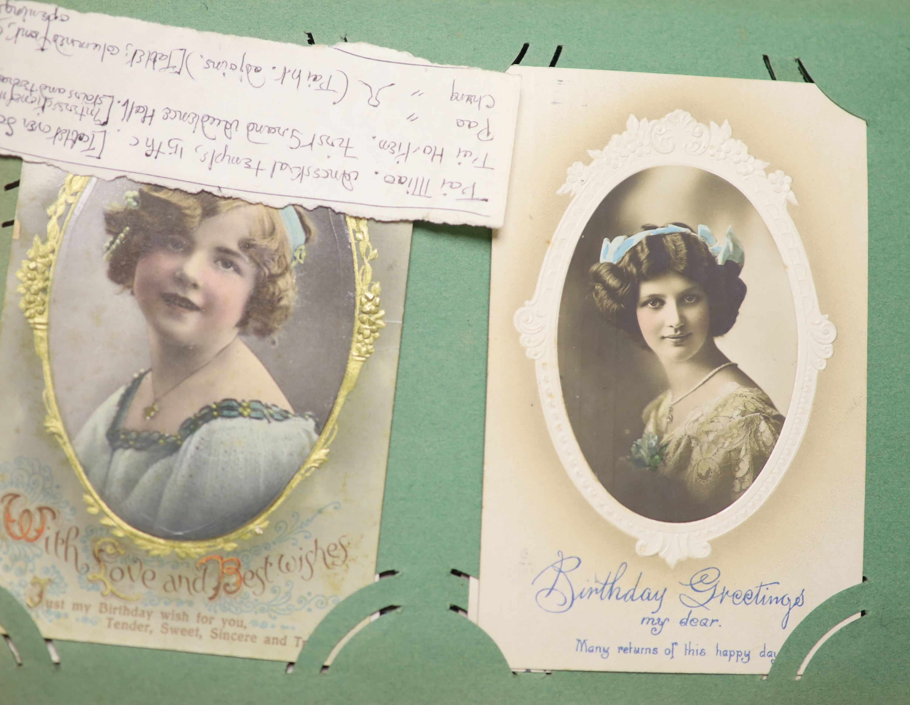 An album of Edwardian and later postcards and large quantity of loose postcards, pre and post war, - Image 2 of 6