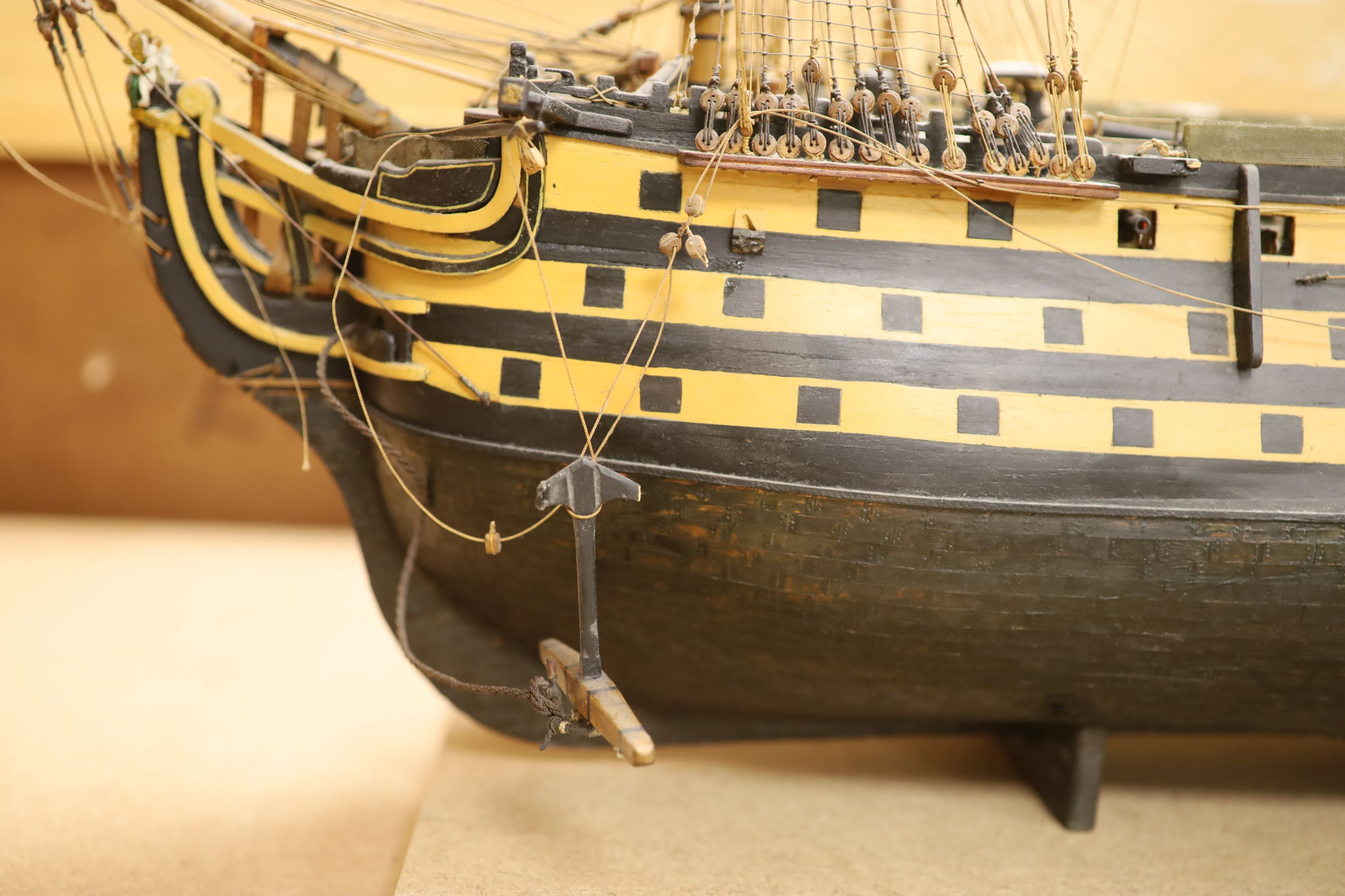 A model of 'The Victory', width 90cm, and a model of 'The Marseille' - Image 7 of 8