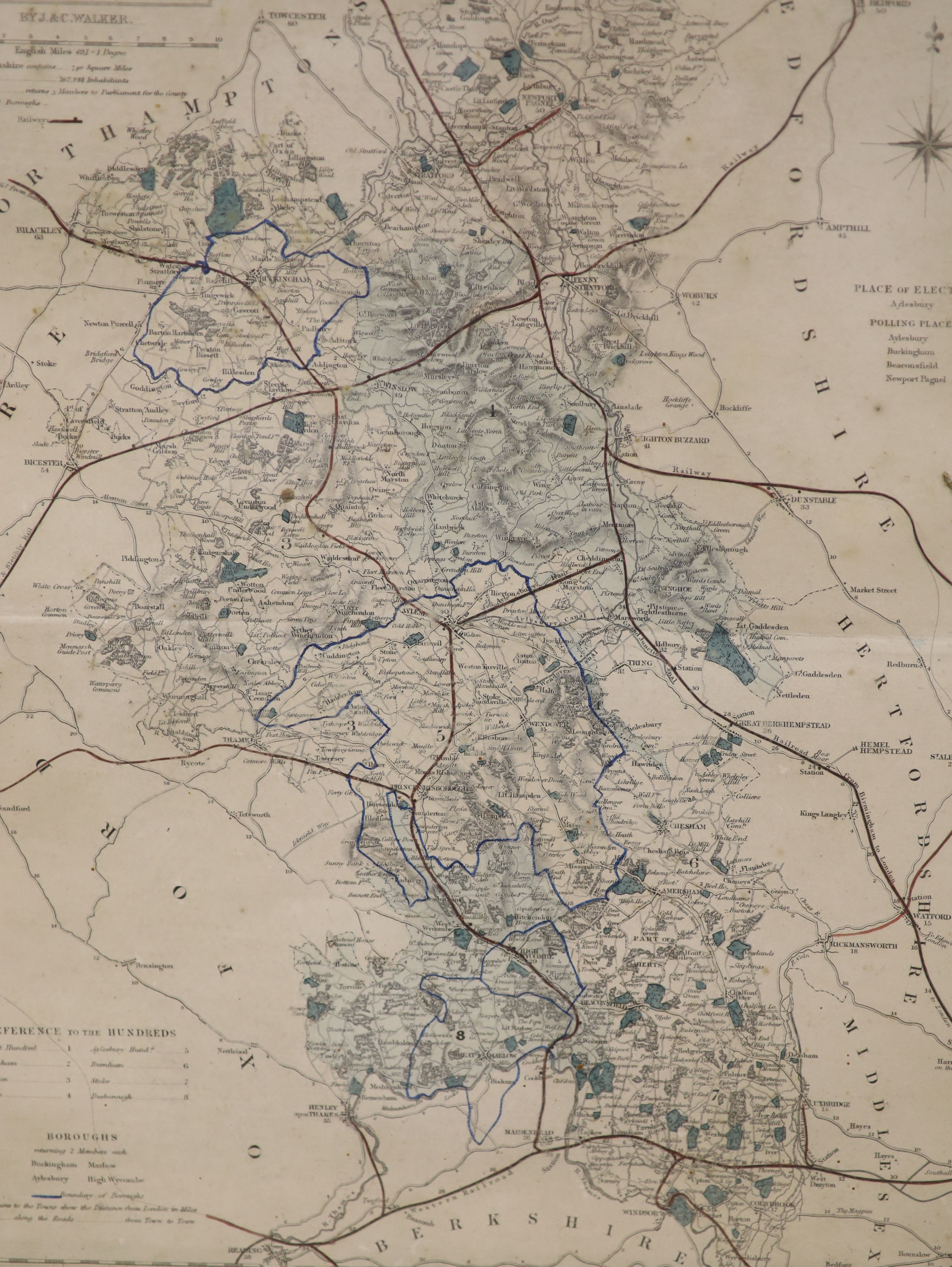 Robert Mordan, two coloured engravings, Maps of Sussex and Midlesex, together with two later - Image 5 of 5