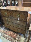 A Regency mahogany secretaire chest, width 106cm depth 55cm height 106cm