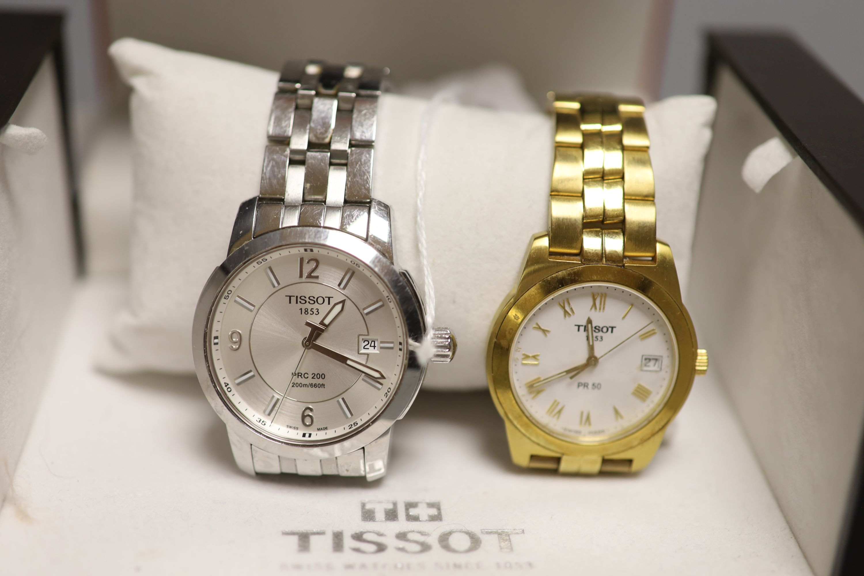 A Tissot 1853 PRC 200 gentleman's stainless steel wristwatch and a Tissot 1853 PR 50 gold-plated - Image 2 of 2