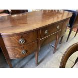 A George III mahogany bowfront sideboard, length 152cm, depth 65cm, height 92cm