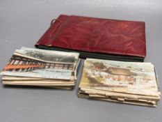 China, Japan and S.E Asia, early 20th century - an album of postcards, including views of the