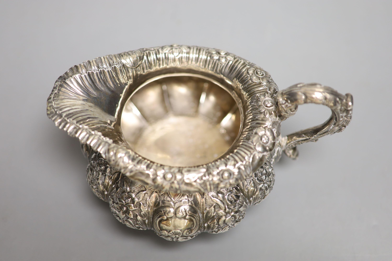 A George IV Irish silver squat melon shaped cream jug, James Le Bas, Dublin, 1828, height 11.2cm, - Image 3 of 4
