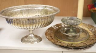 A quantity of mixed plated wares