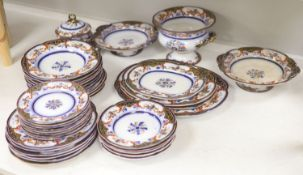 A 19th century earthenware dinner service