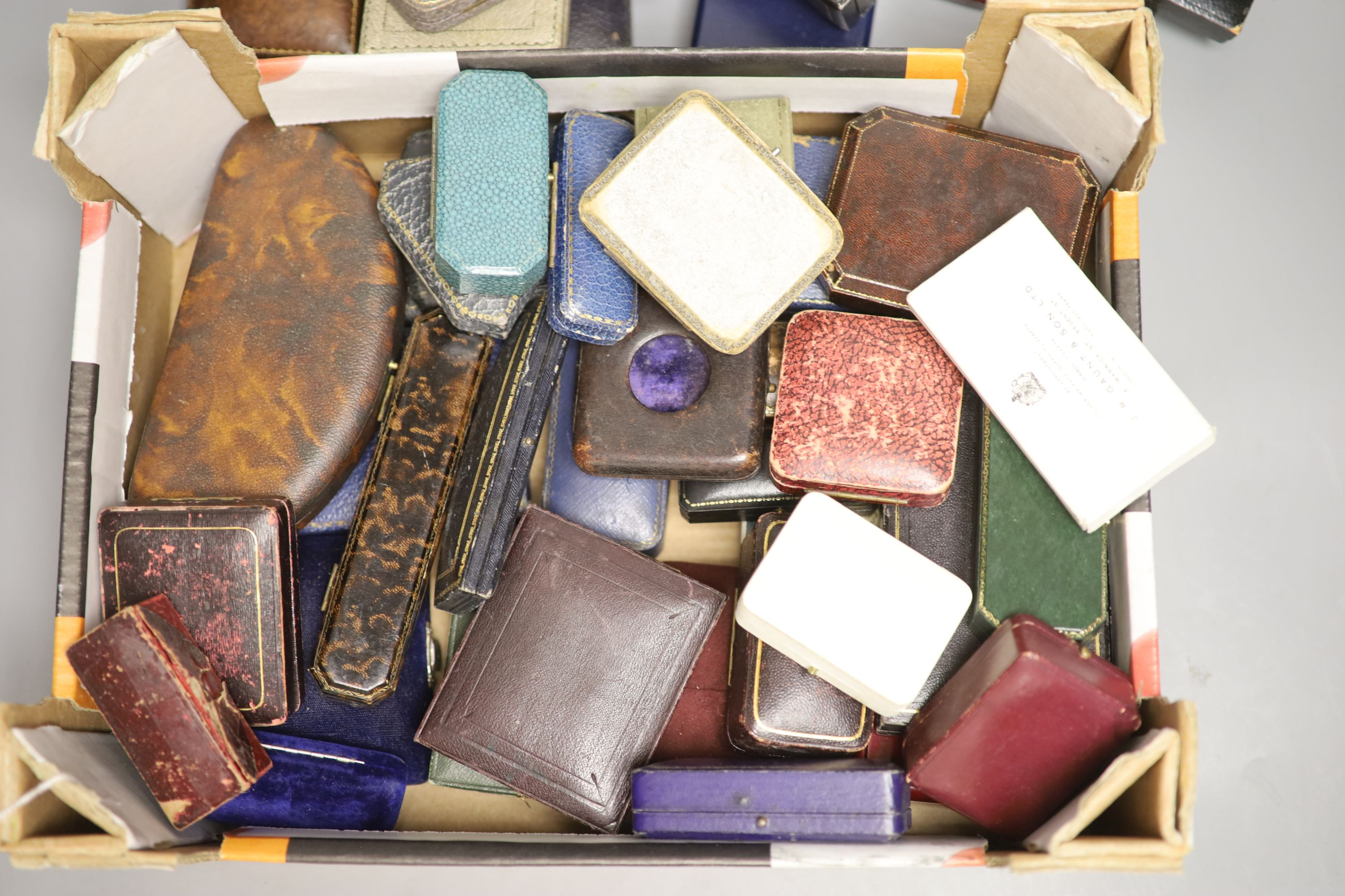 Fifty two assorted mainly jewellery boxes, including Shapland and Fattorini & Sons. - Image 2 of 2
