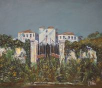 R. Pettini, oil on canvas, 'Villa Veneta, Verona 1995', signed, 50 x 60cm