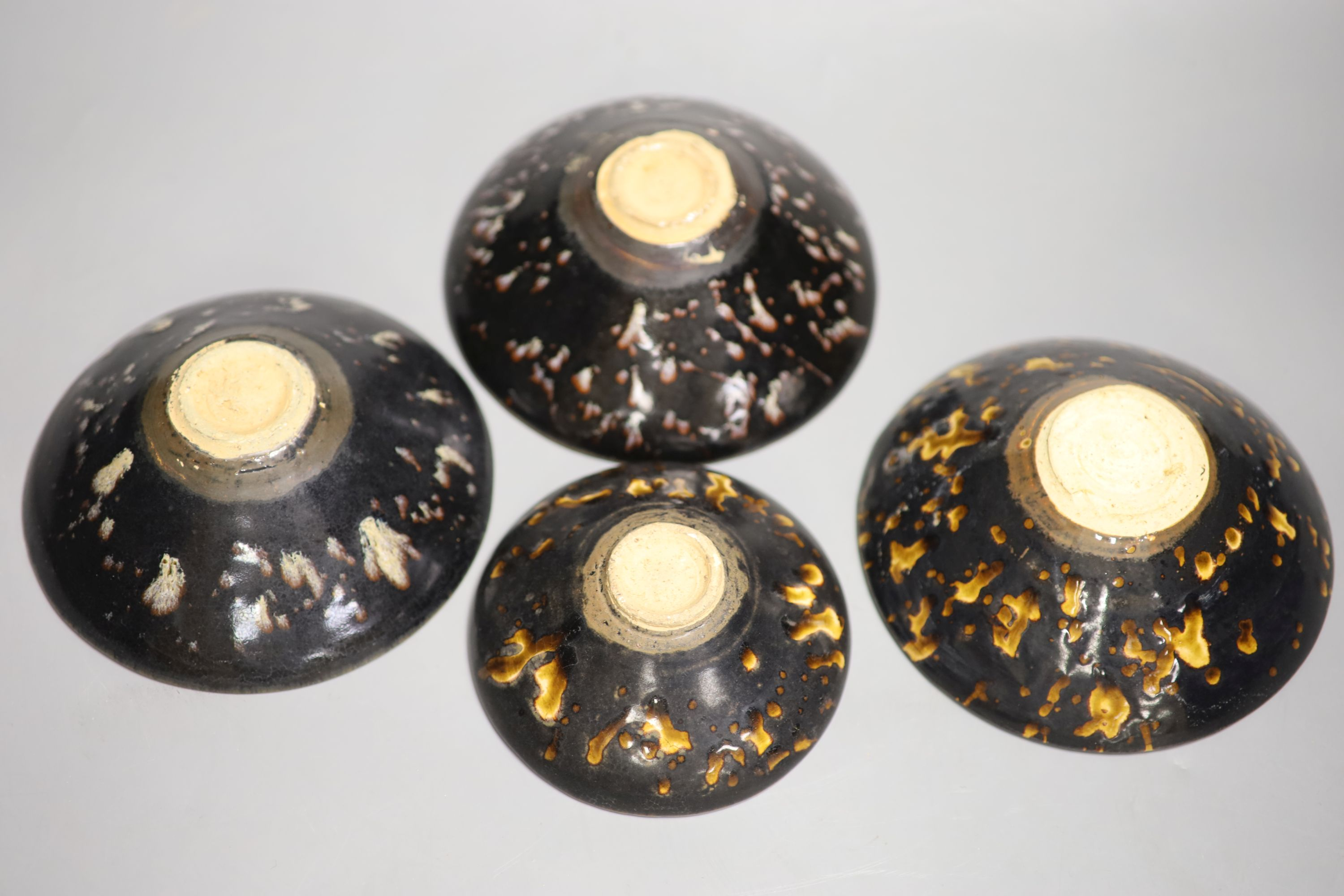 Four Chinese splash glaze bowls, diameter 16cmCONDITION: Good condition. - Image 4 of 4