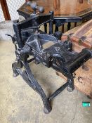 A Harrild and Sons cast iron printer's press, with later brass plaque - F.W. Woodruff & Co. Ltd.,