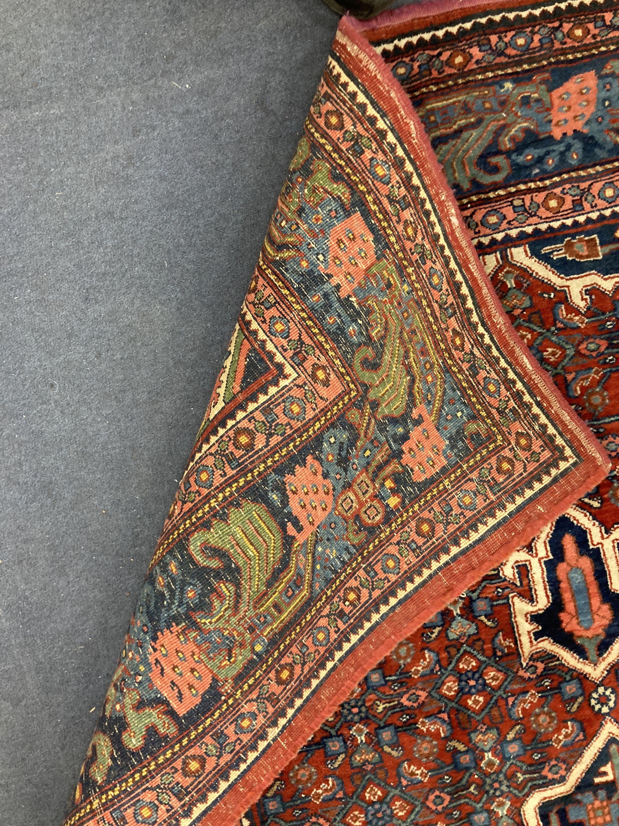A red ground Shiraz rug, 204 x 132cm - Image 2 of 2