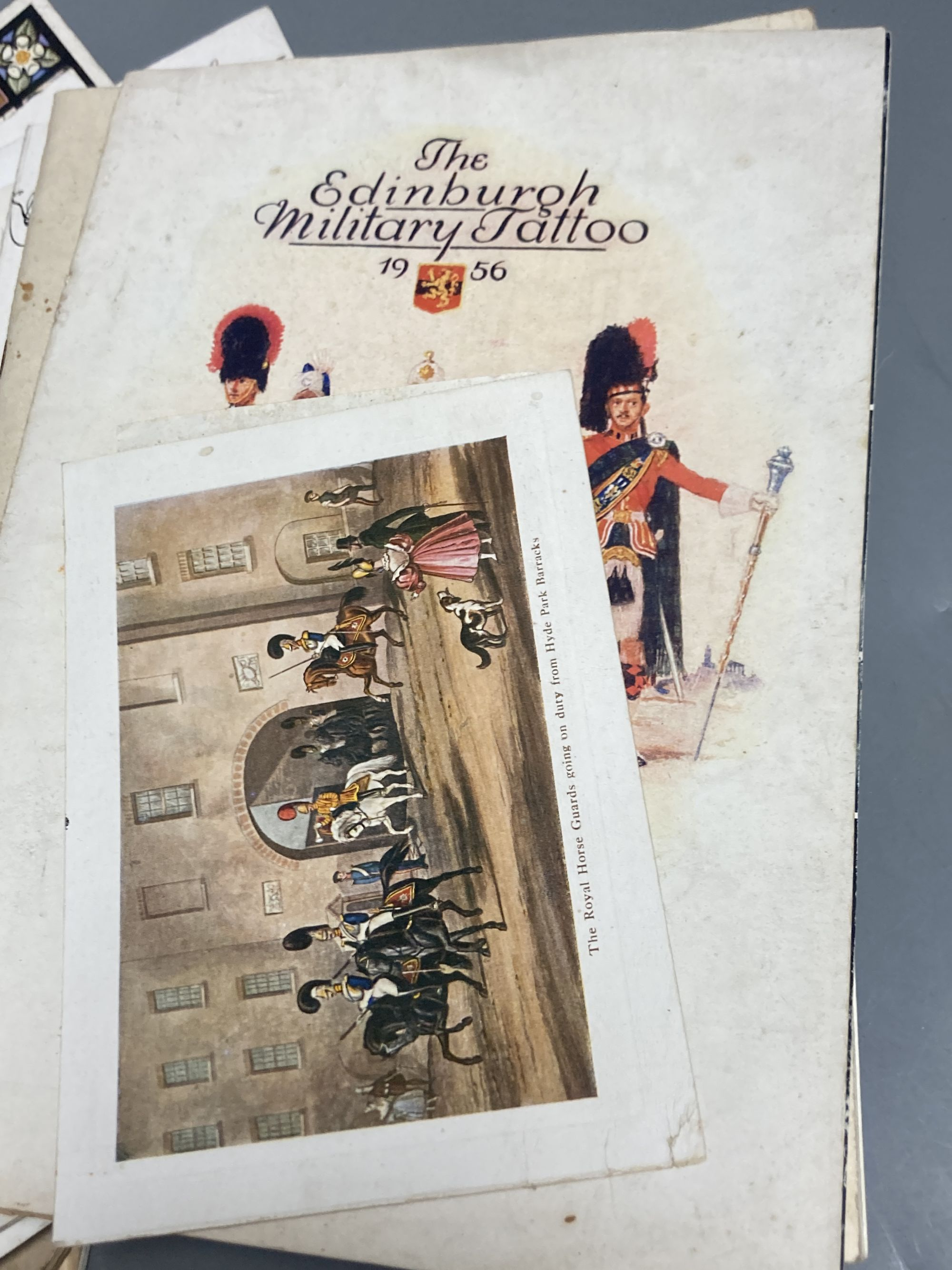 """A quantity of trooping the colour programmes """"some signed by officers and other military ephemera - Image 3 of 6"""