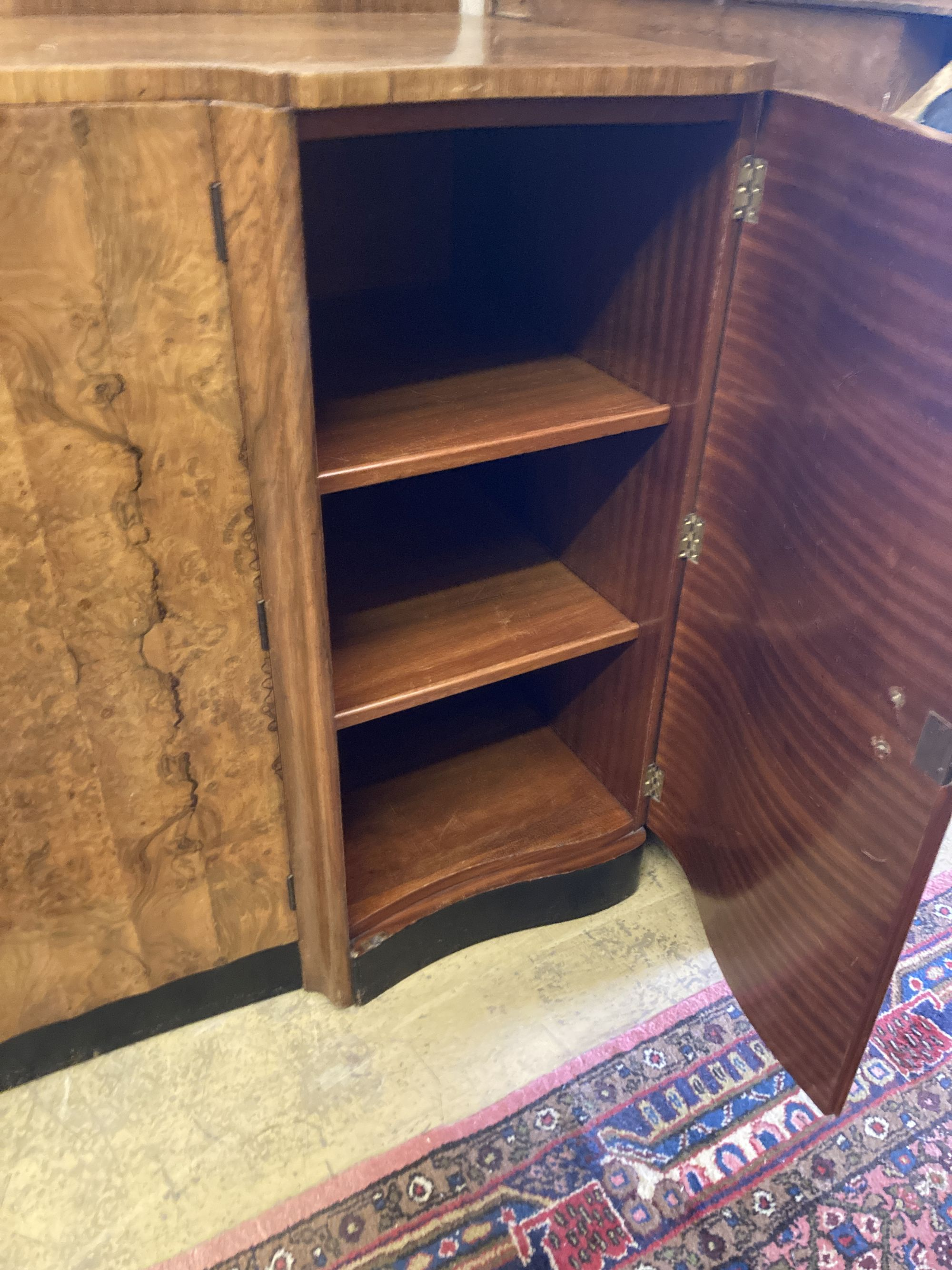 An Art Deco figured walnut sideboard, width 168cm depth 58cm height 98cm - Image 2 of 3