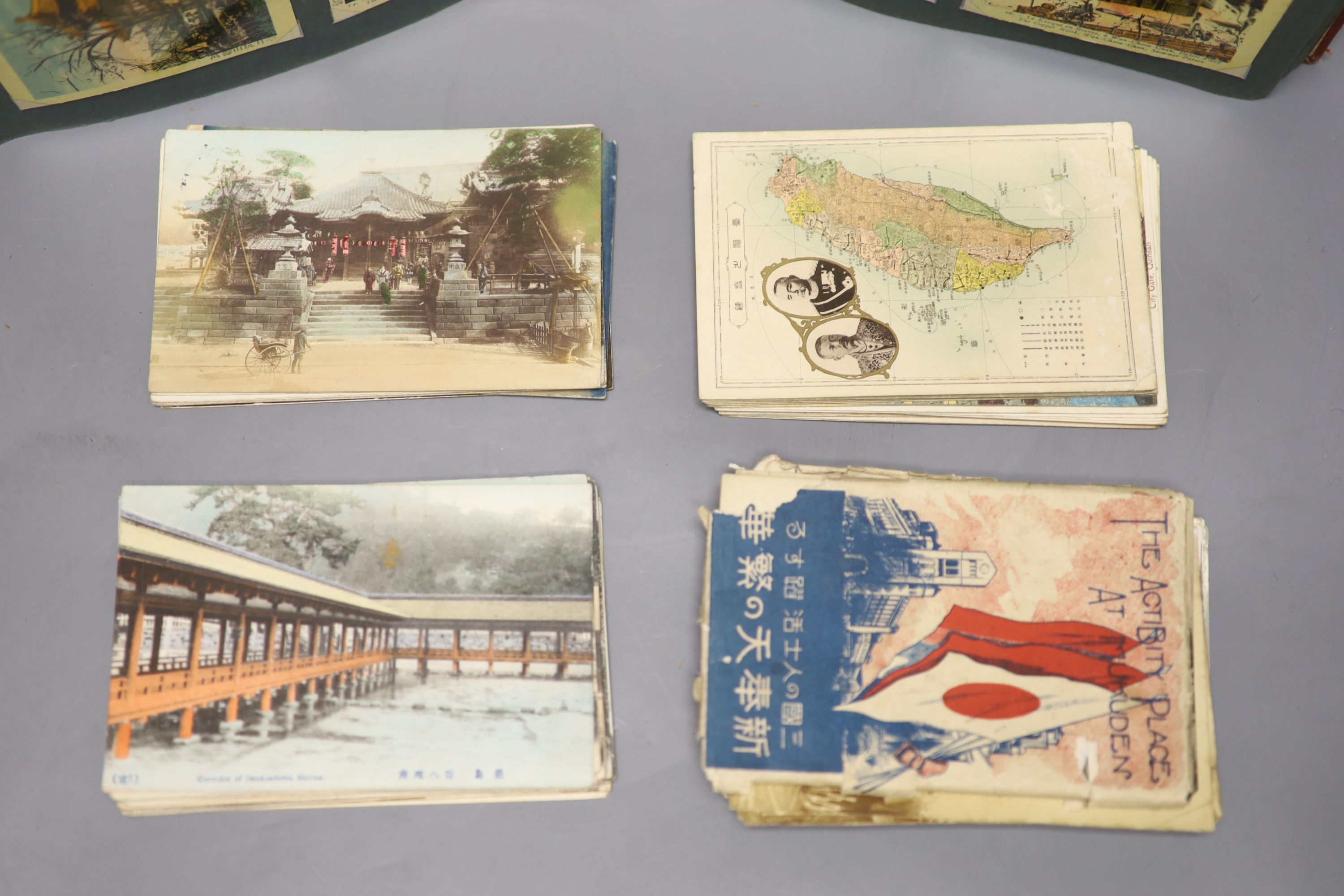 China, Japan and S.E Asia, early 20th century - an album of postcards, including views of the - Image 5 of 6