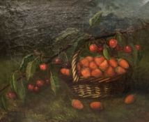 M. Milton, pair oils on canvas, Still lifes of fruit, signed, 37 x 44cm