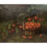M. Milton, pair oils on canvas, Still lifes of fruit, signed, 37 x 44cm