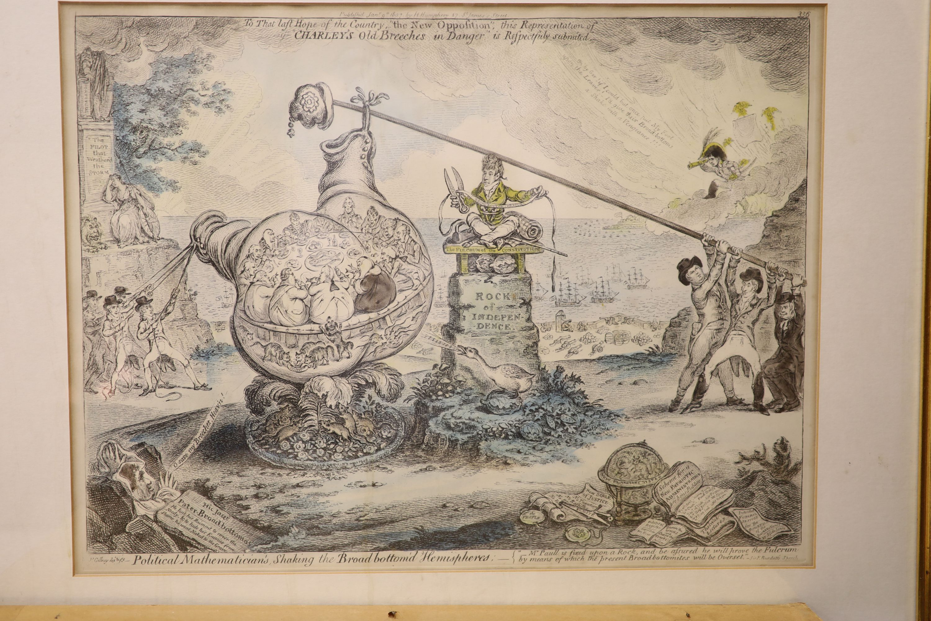 Boehm after Gillray, seven engravings, Caricatures including 'Political Dreamings', 'Political - Image 7 of 8