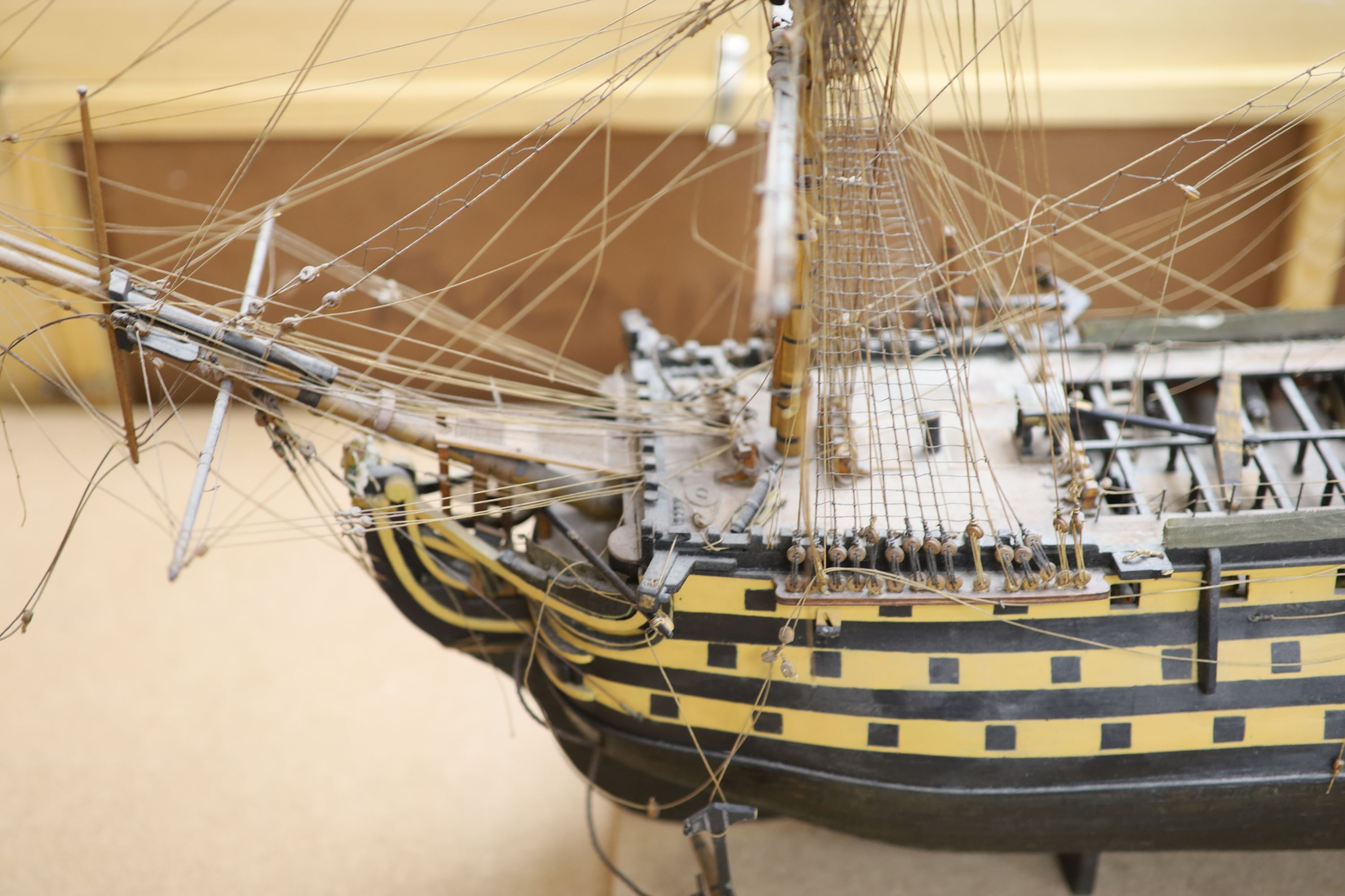 A model of 'The Victory', width 90cm, and a model of 'The Marseille' - Image 6 of 8