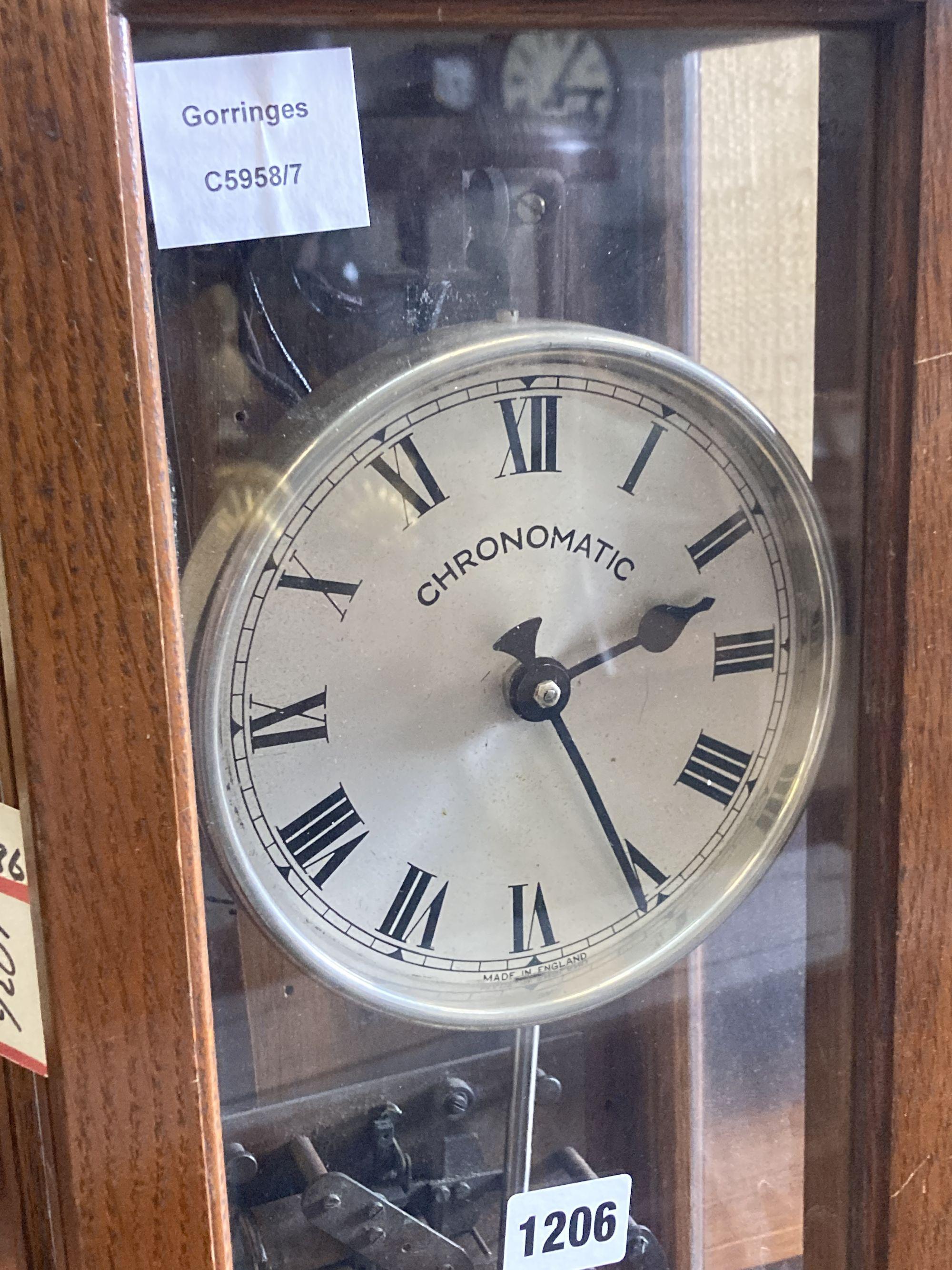 A Chronomatic oak master pendulum clock - Image 2 of 4