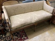 A George IV mahogany settee, width 162cm depth 68cm height 87cm