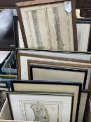 A large collection of mixed prints and etchings etc