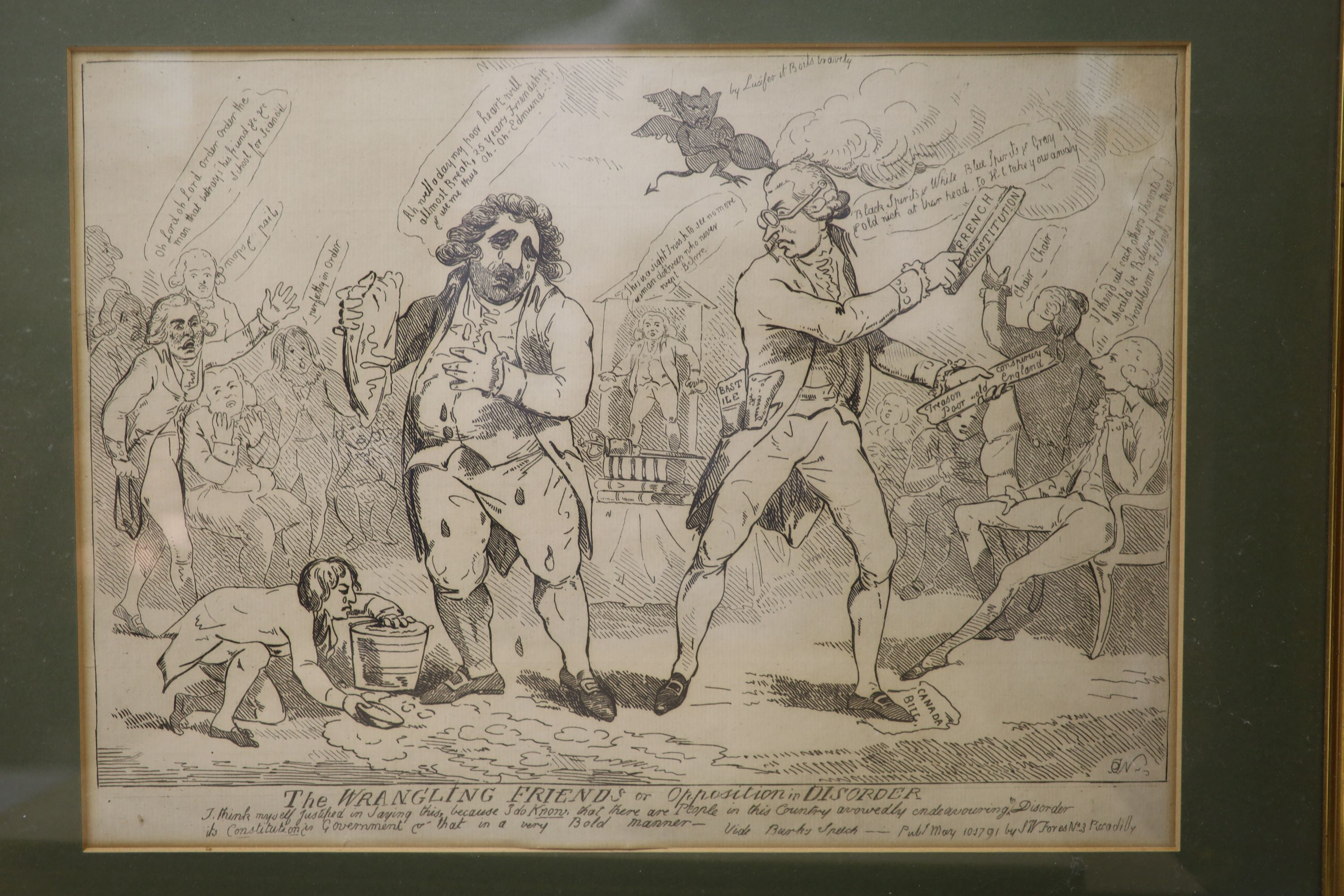 Boehm after Gillray, seven engravings, Caricatures including 'Political Dreamings', 'Political - Image 6 of 8