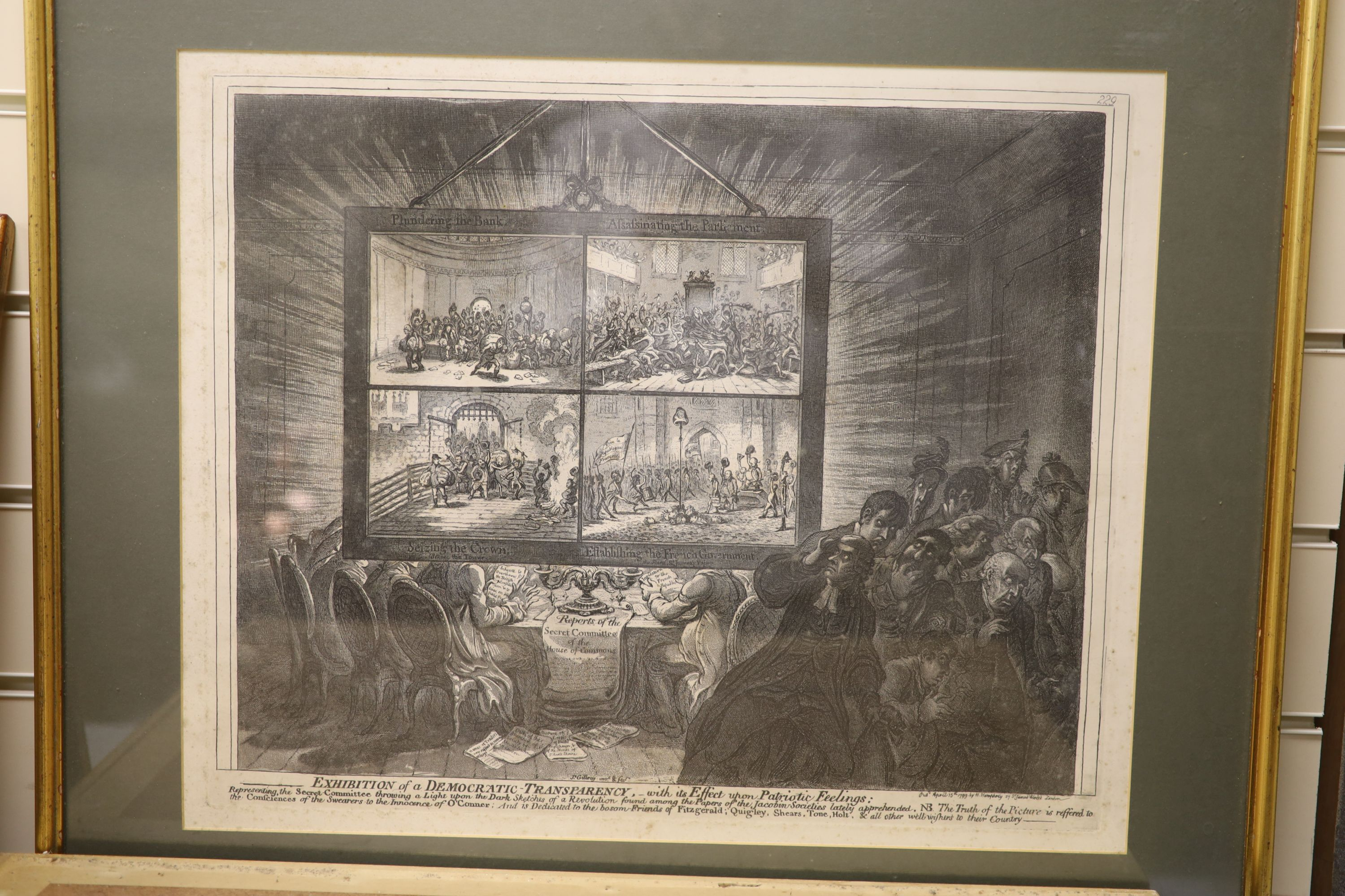 Boehm after Gillray, seven engravings, Caricatures including 'Political Dreamings', 'Political - Image 8 of 8