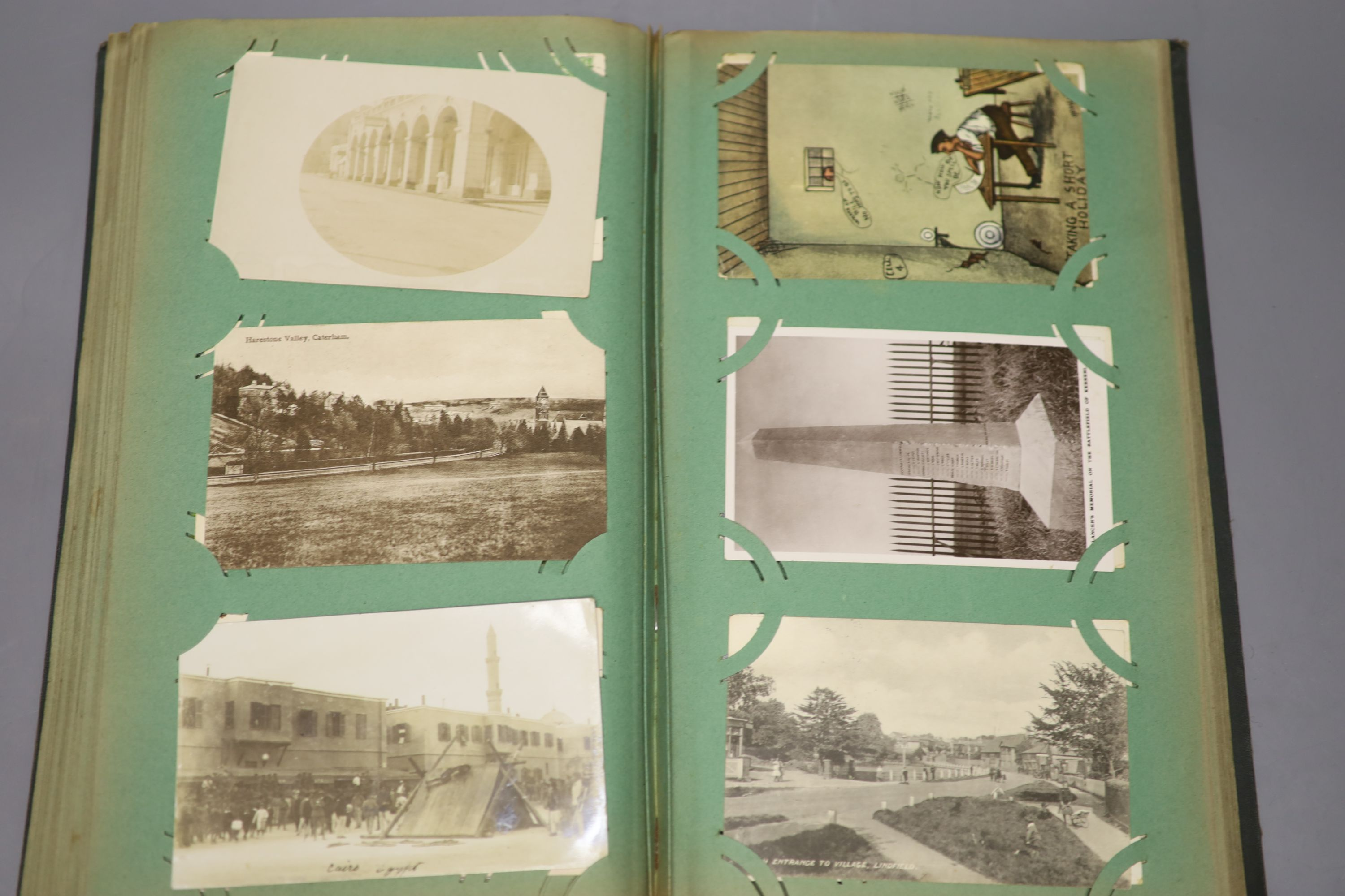 An album of Edwardian and later postcards and large quantity of loose postcards, pre and post war, - Image 4 of 6