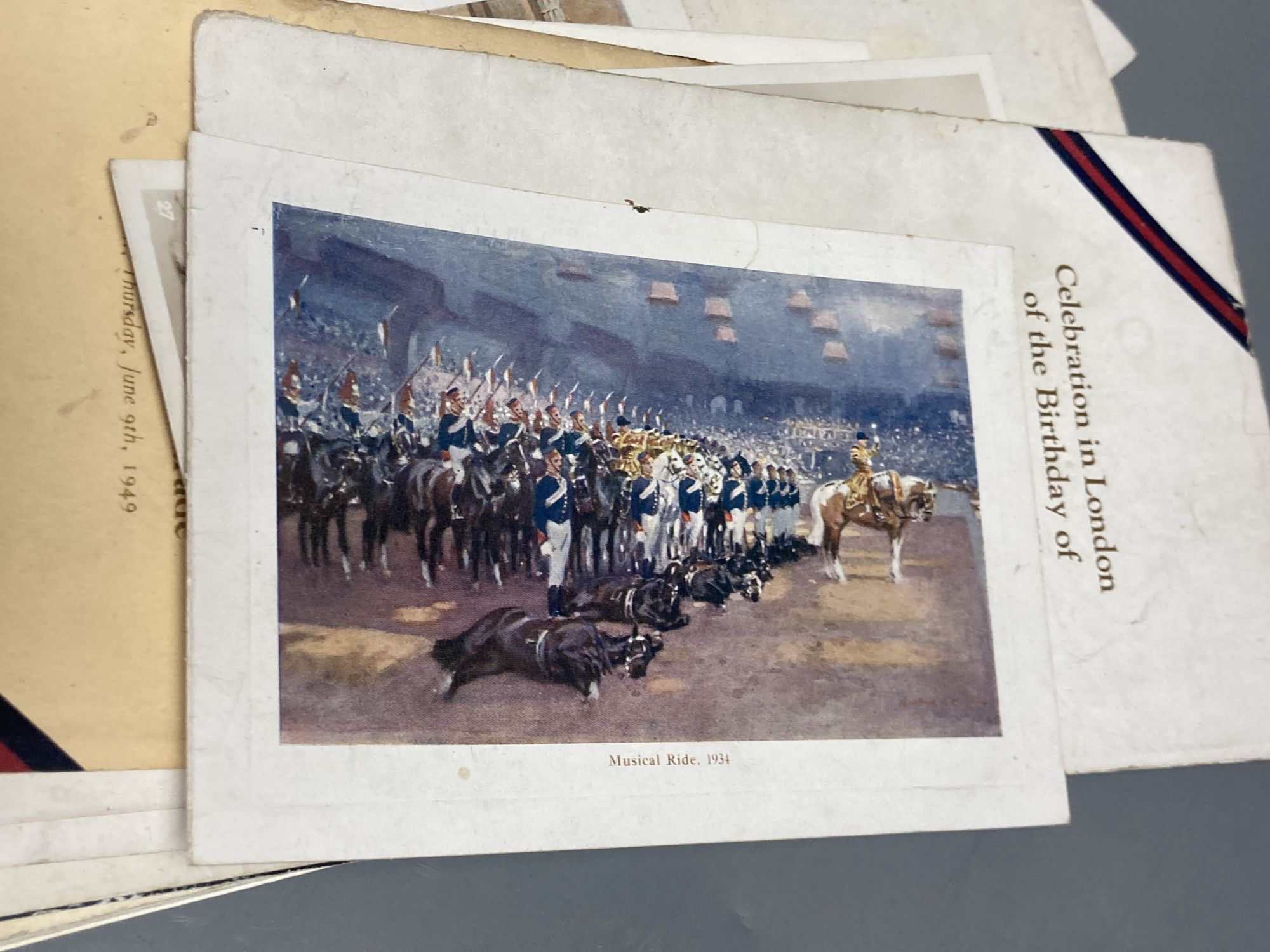 """A quantity of trooping the colour programmes """"some signed by officers and other military ephemera - Image 2 of 6"""