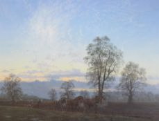 David V. Thomas, 'A Suffolk Morning', 54 x 80cm monogrammed, inscribed to verso and dated 1988, 21.5