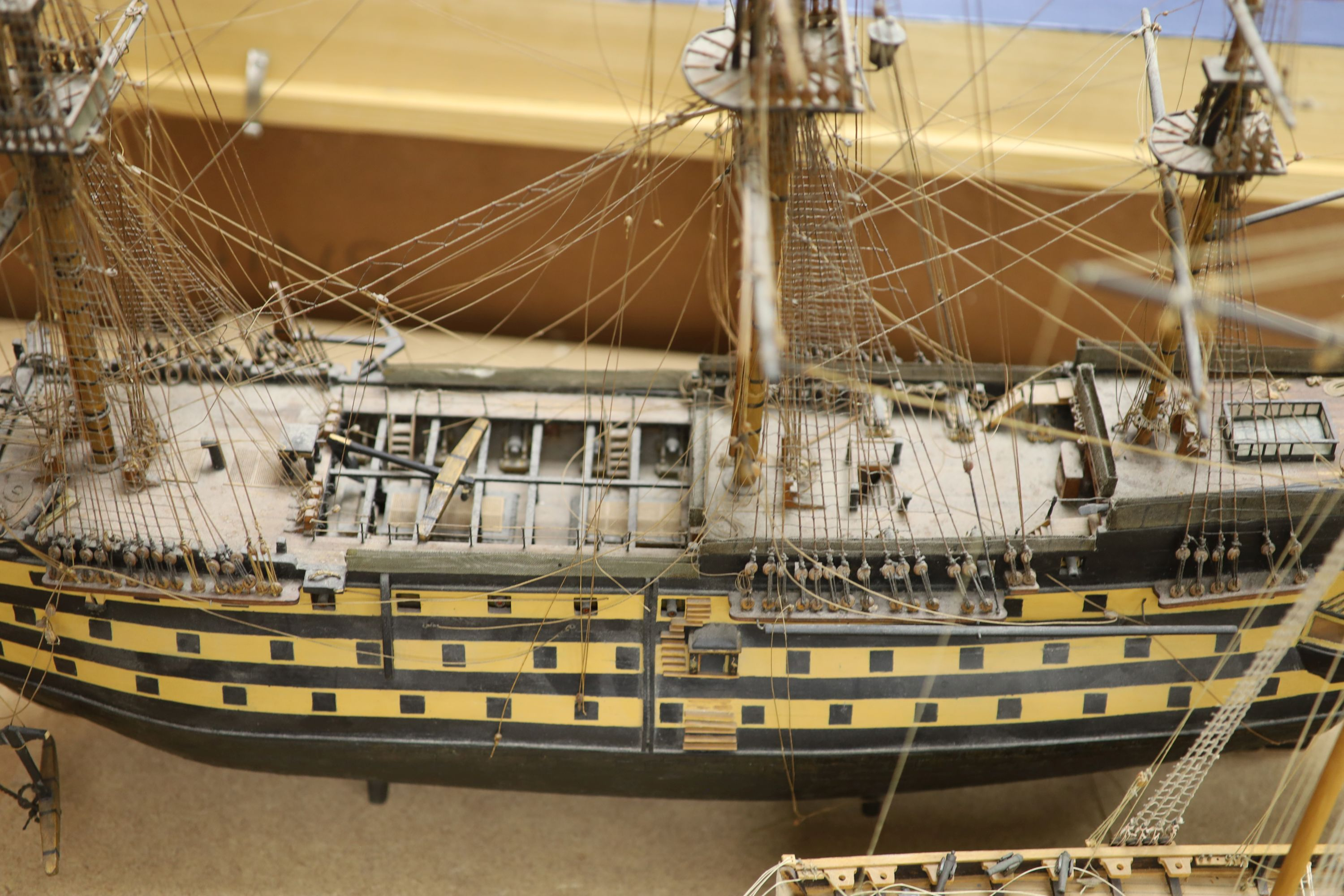 A model of 'The Victory', width 90cm, and a model of 'The Marseille' - Image 5 of 8