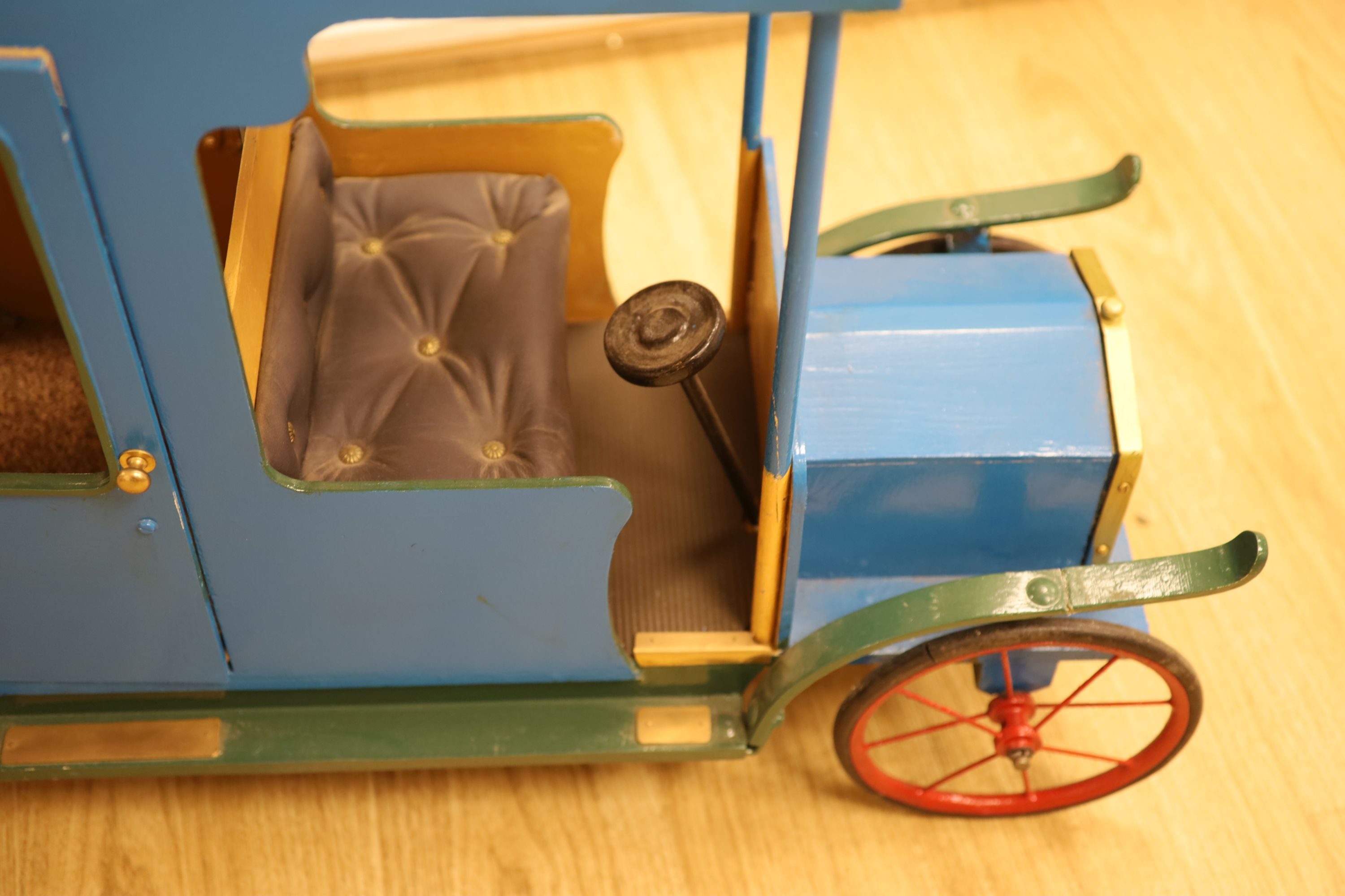 A novelty early 20th century model car, width 108cm height 62cm - Image 2 of 4