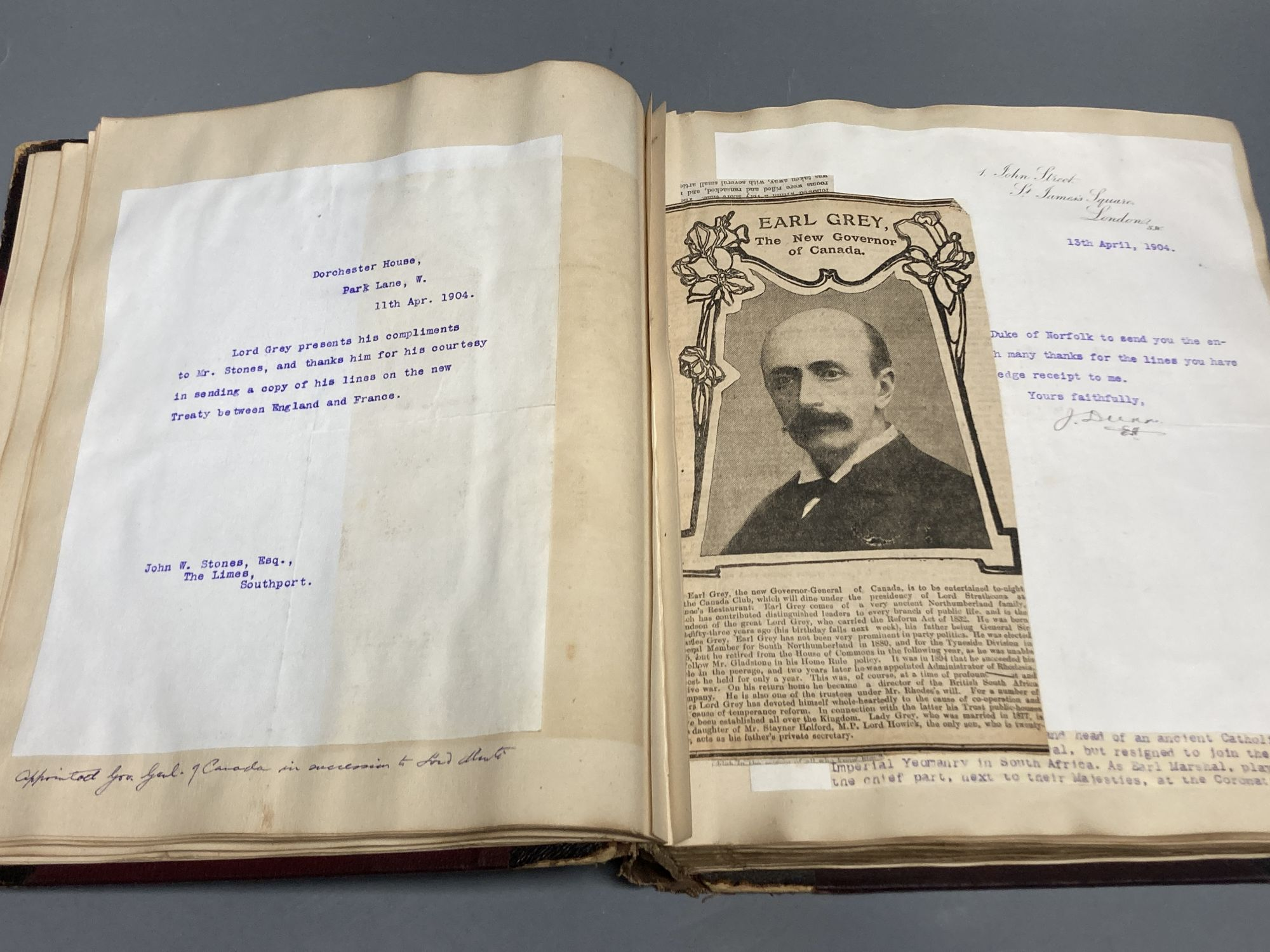 An autograph album of notable Edwardian and 1920s people - Image 3 of 4