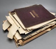 Various autograph albums, famous people of the day, Victorian and later