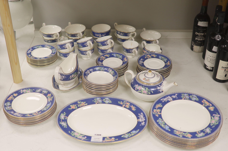 "A Wedgwood bone china ""Blue Siam"" tea and dinner service"