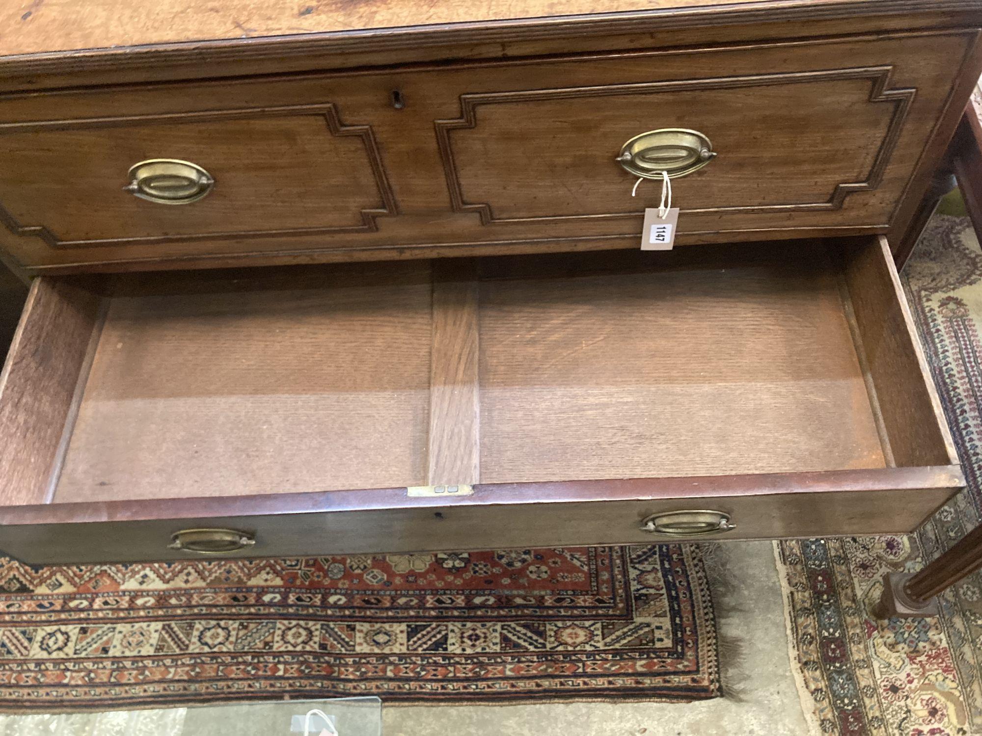 A Regency mahogany secretaire chest, width 106cm depth 55cm height 106cm - Image 4 of 4