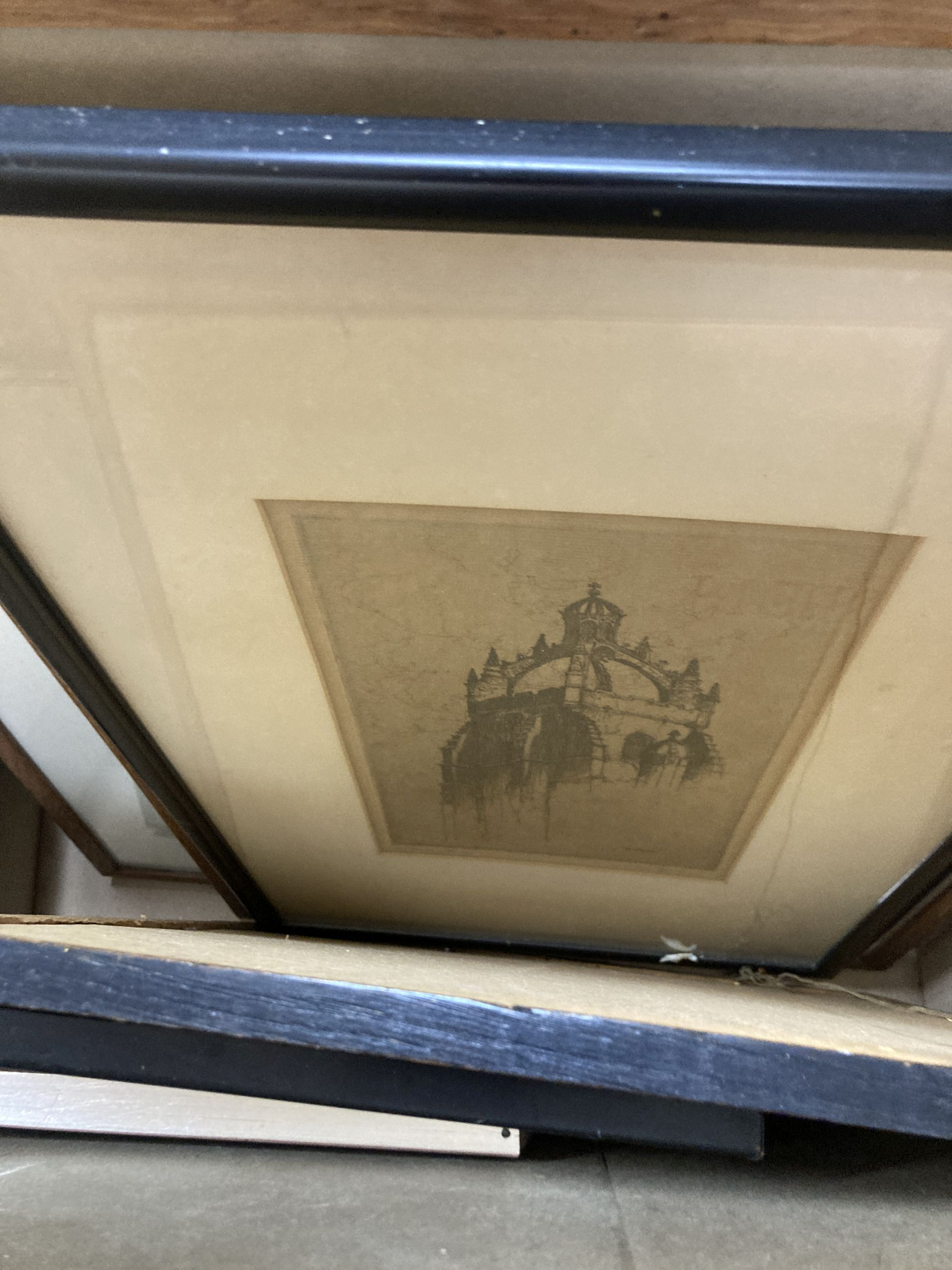 A large collection of mixed prints and etchings etc - Image 3 of 5