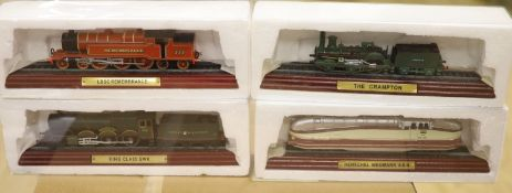 Three Hornby Railways/Royal Doulton collectors train packs and eight collectors models of