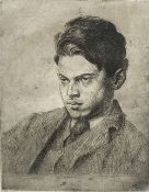 Augustus John (1882-1957), artist proof, Portrait of Percy Wyndham Lewis, signed in pencil, 17.5 x