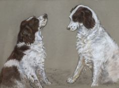 Peter Biegel (1913-1987), pastel, Studies of a Springer spaniel, signed, 34 x 44cmCONDITION: Good