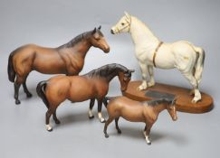 A Beswick Connoisseur model of Champion Welsh pony Gredington Simwnt 3614, overall height 23cm, a