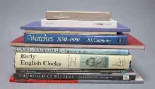 A quantity of reference books relating to clocks and watches, including Jaeger Le Coultre Watches