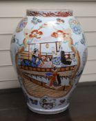A large Japanese kutani vase, late 19th century, height 51cm